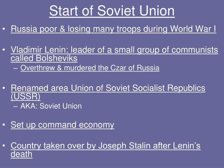 Start of Soviet Union