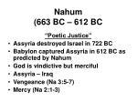 nahum 663 bc 612 bc