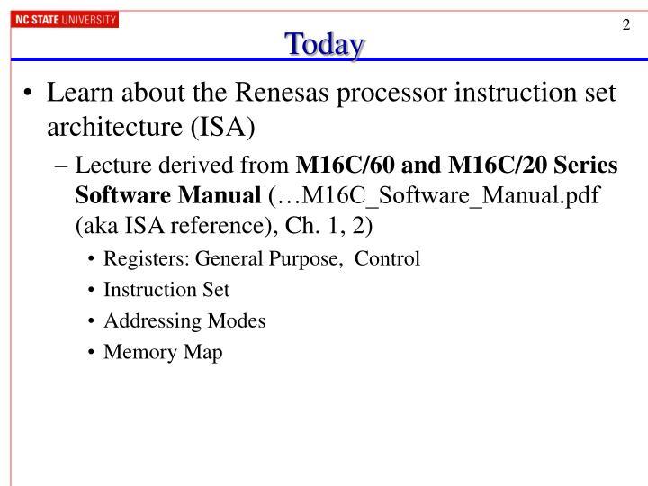 Ppt Renesas M16c Instruction Set Architecture Powerpoint