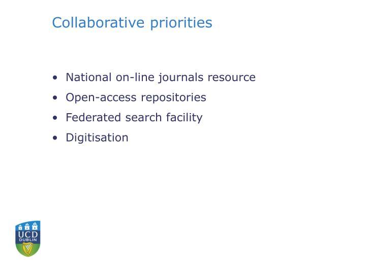 Collaborative priorities