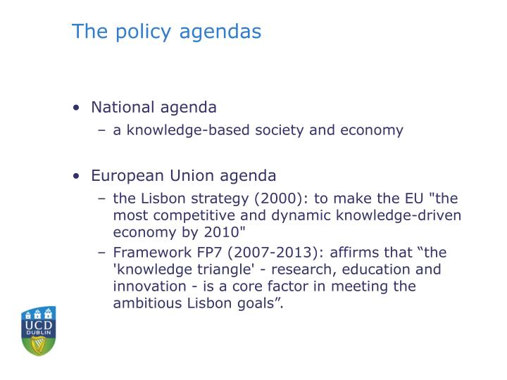 The policy agendas