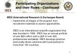 participating organizations and their roles continued1