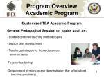 program overview academic program
