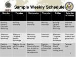 sample weekly schedule