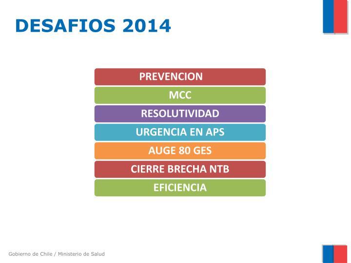 DESAFIOS 2014