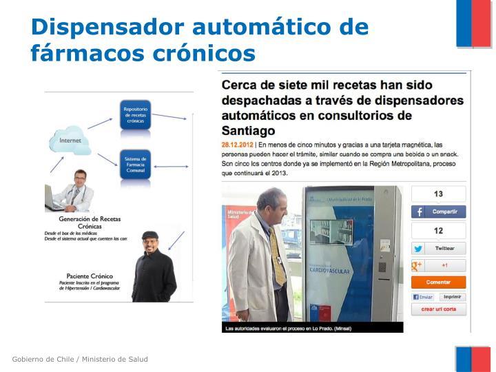 Dispensador automático de fármacos crónicos