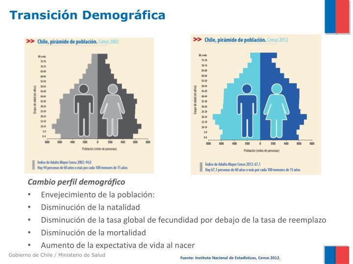 Cambio perfil demográfico
