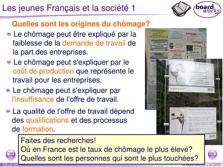 Les jeunes Français et la société 1