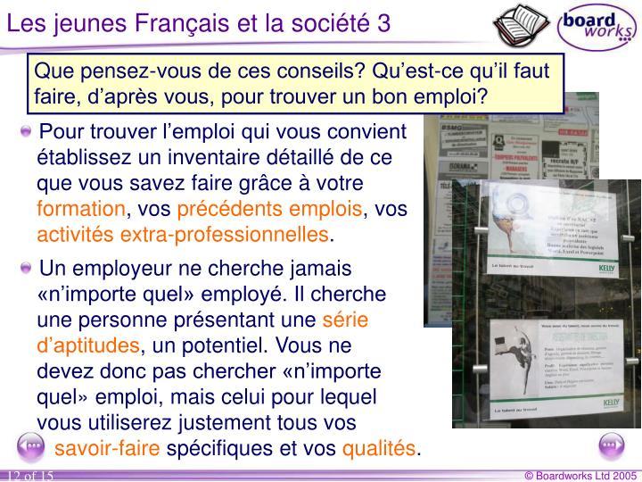 Les jeunes Français et la société 3