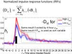 normalized impulse response functions irfs1