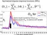 normalized impulse response functions irfs2