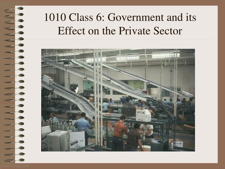 1010 class 6 government and its effect on the private sector