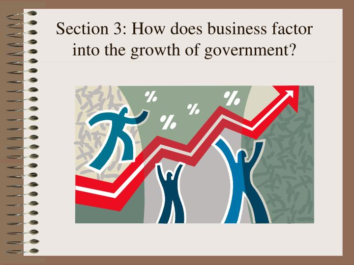 Section 3: How does business factor into the growth of government?