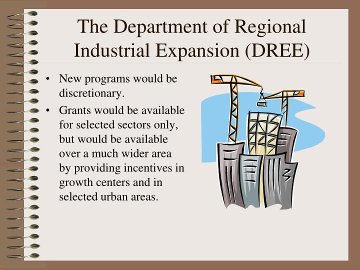 The Department of Regional Industrial Expansion (DREE)