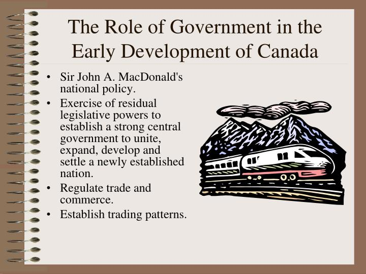 The Role of Government in the Early Development of Canada