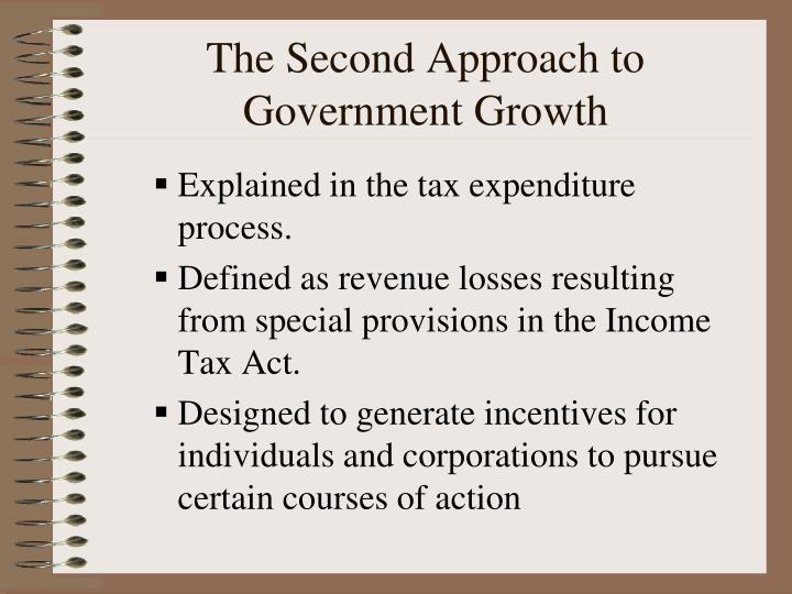 The Second Approach to Government Growth