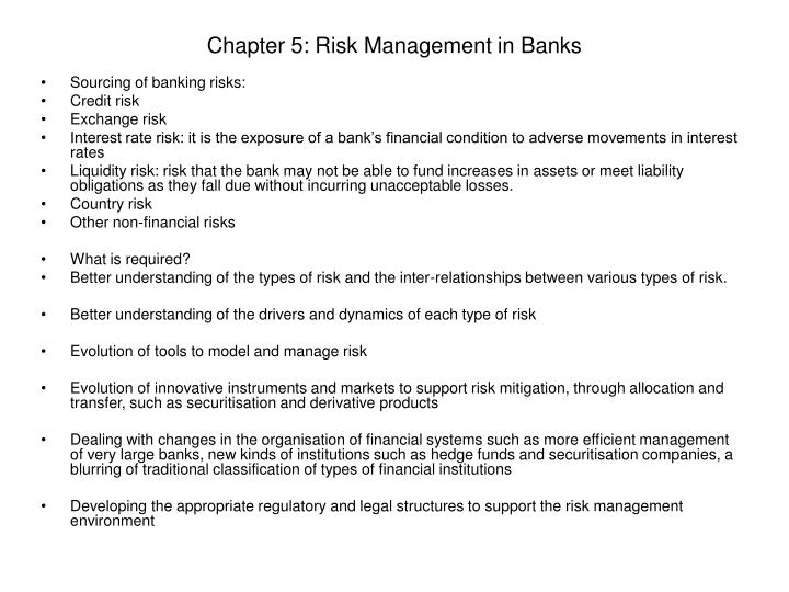 PPT - Chapter 5: Risk Management in Banks PowerPoint