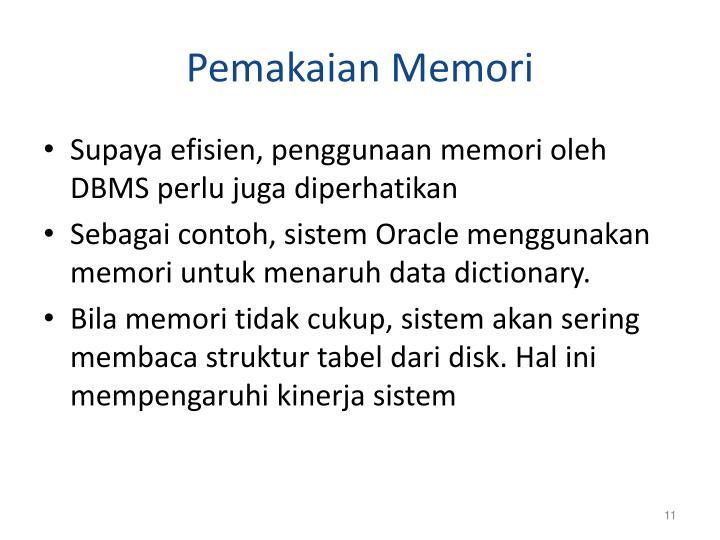 Pemakaian Memori