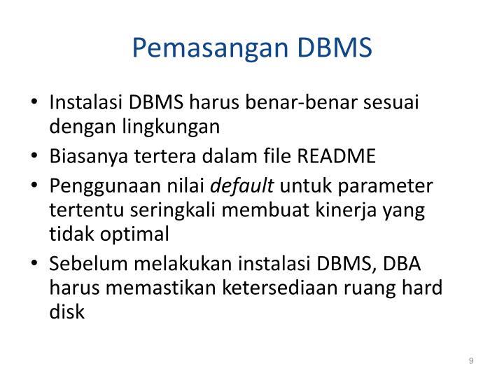 Pemasangan DBMS