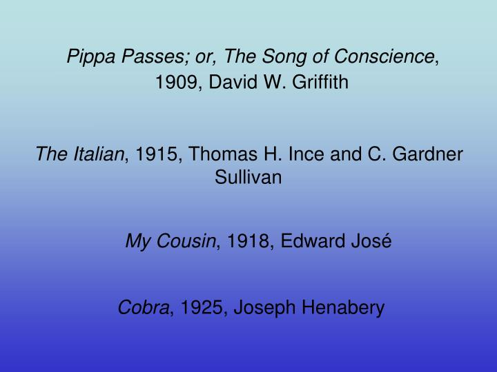 Pippa Passes; or, The Song of Conscience