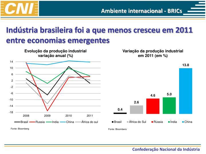 Ambiente internacional - BRICs
