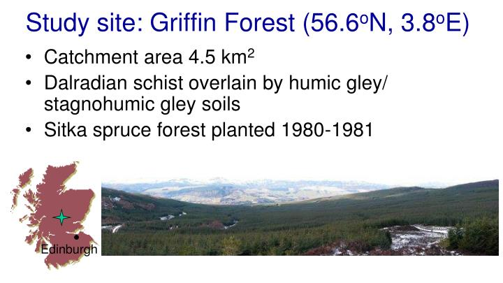 Study site griffin forest 56 6 o n 3 8 o e