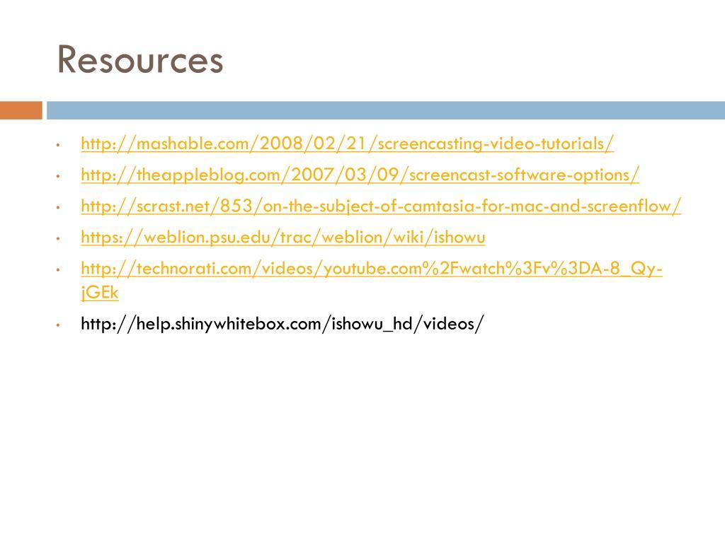 PPT - Screencasting: iShowU PowerPoint Presentation - ID:5148689