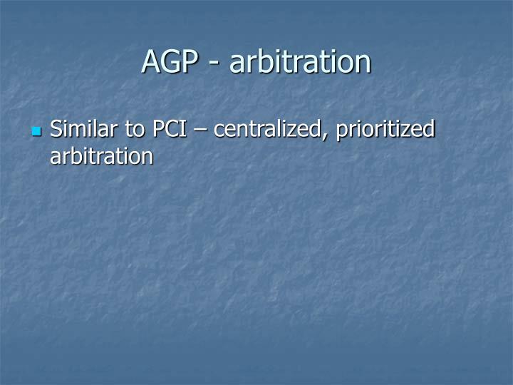 AGP - arbitration