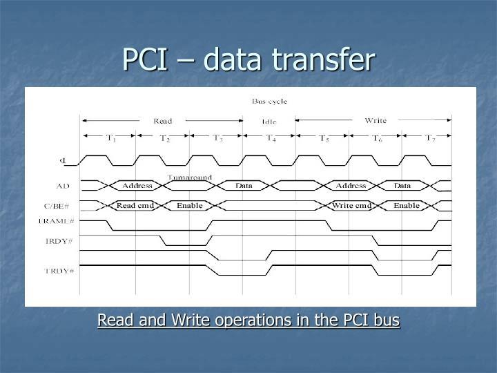 PCI – data transfer