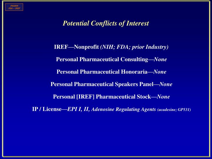 potential conflicts of interest n.