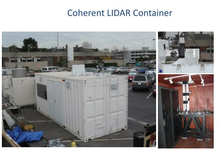 Coherent LIDAR Container