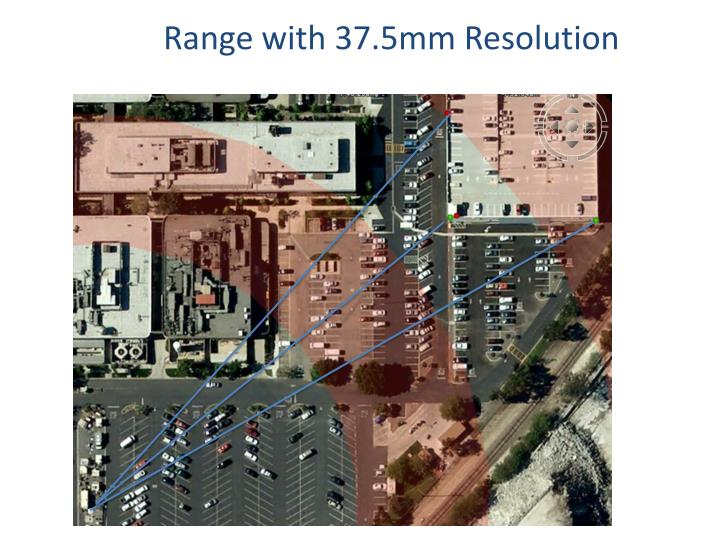 Range with 37.5mm Resolution