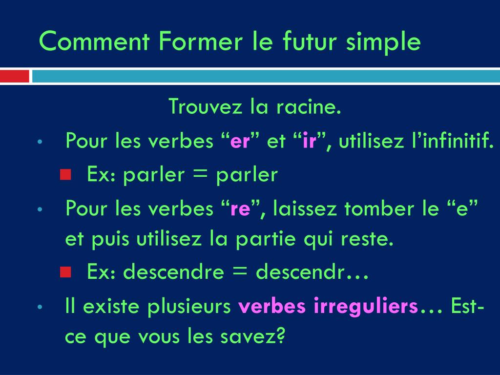 Ppt Le Futur Simple Powerpoint Presentation Free Download Id 5149107
