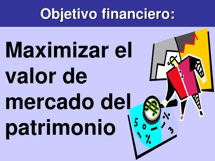 Objetivo financiero: