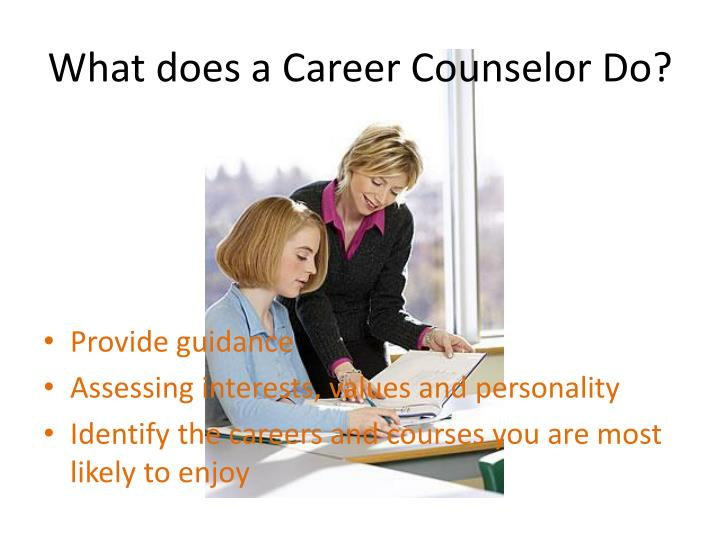 What does a career counselor do