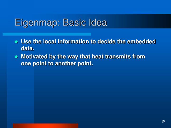 Eigenmap: Basic Idea