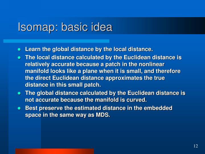 Isomap: basic idea