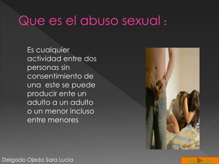 Que es el abuso sexual