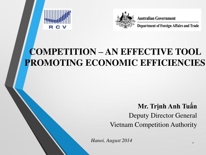 mr tr nh anh tu n deputy director general vietnam competition authority n.
