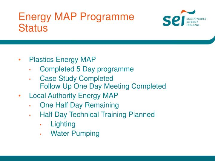 Energy map programme status