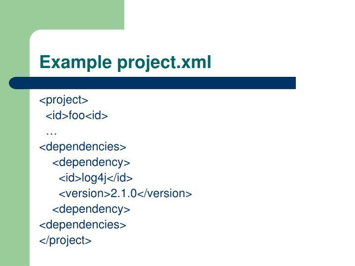 Example project.xml