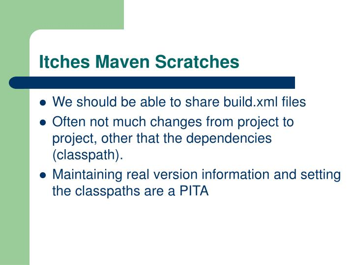 Itches Maven Scratches