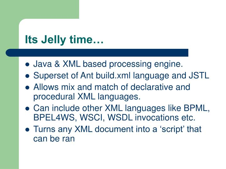 Its Jelly time…