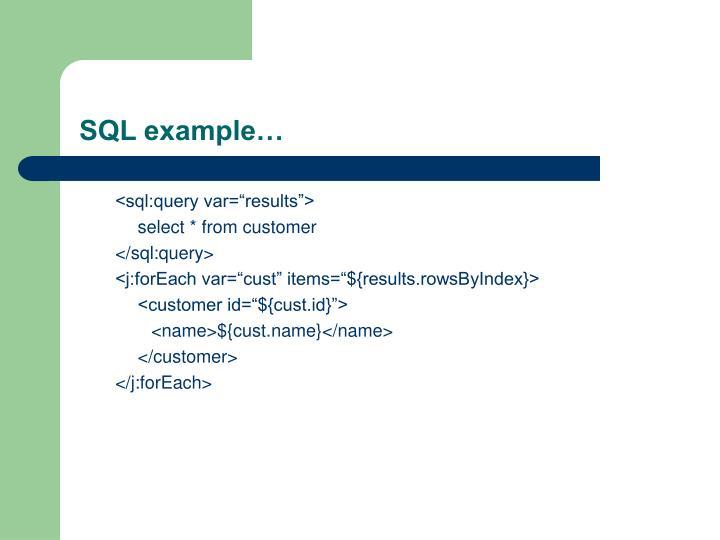 SQL example…