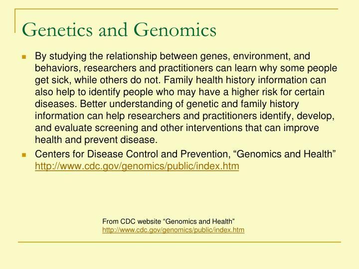 Genetics and Genomics