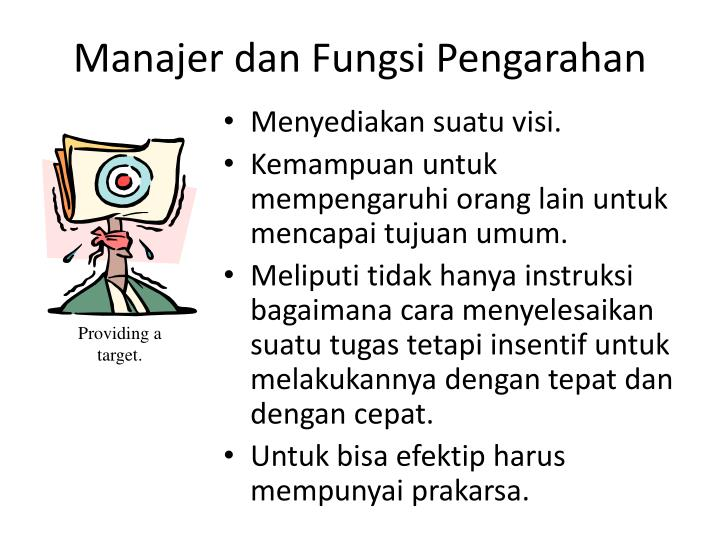 Manajer dan Fungsi Pengarahan