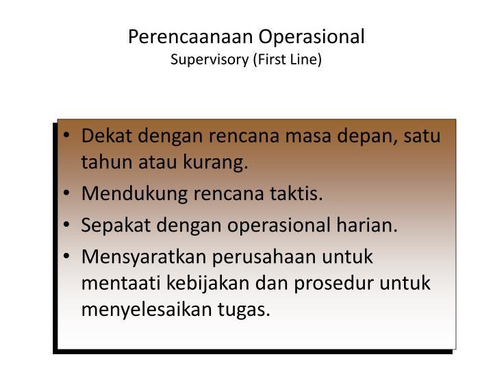 Perencaanaan Operasional