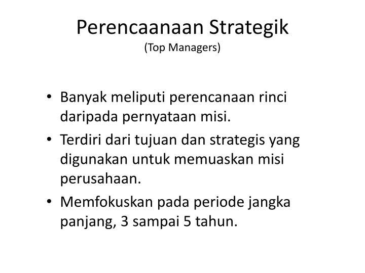 Perencaanaan Strategik