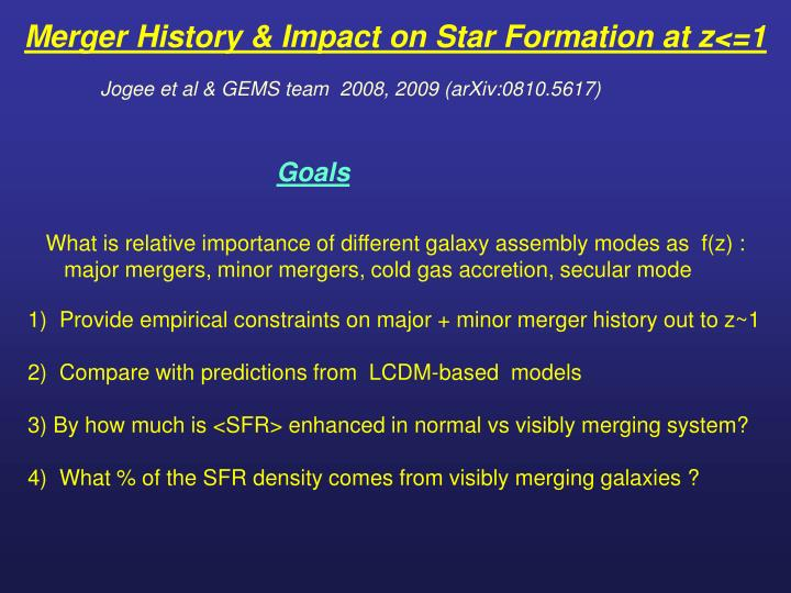Merger History & Impact on Star Formation at z<=1