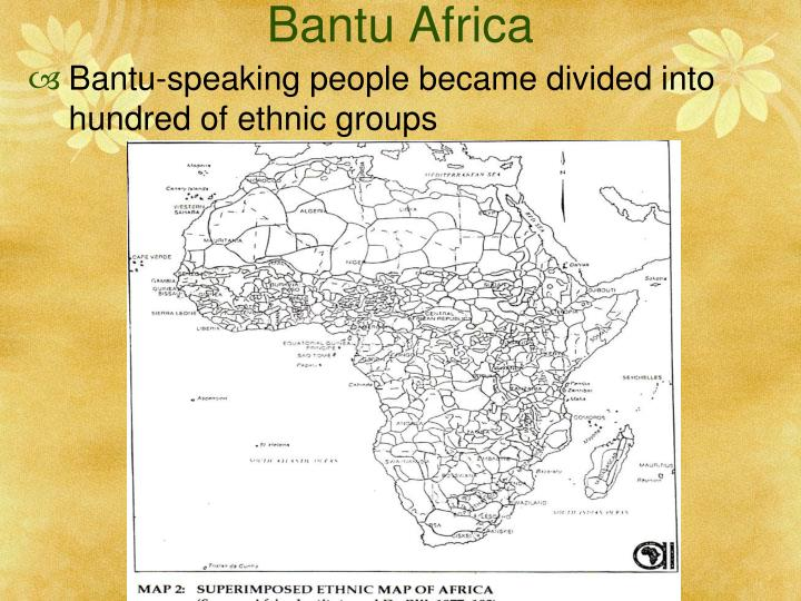 the bantu speaking people